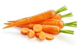 Carottes fraîches de carottes d'isolement Photographie stock