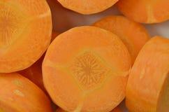 Carottes fraîches de coupe profondément, détail image stock