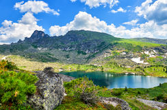 Carous lake in mountains of Southern Siberia Royalty Free Stock Image