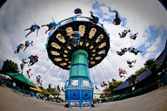 Carousel в тематическом парке стоковое фото rf