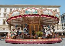 Carousel в Флоренсе, Италии Стоковая Фотография