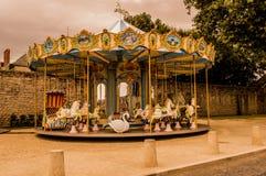 Carousel в Guerande Франции Стоковые Изображения RF