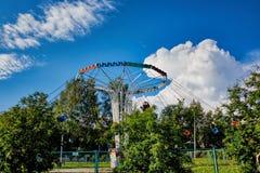 Carousel в Park стоковое фото rf