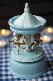Carousel игрушки с молодыми лошадями Стоковая Фотография RF