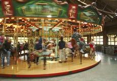 carousel идет веселый круг Стоковые Изображения