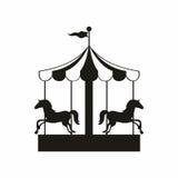carousel иллюстрация конструкции играет главные роли вектор Стоковое Изображение RF