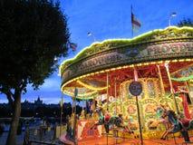 Carousel Лондона освещенный вверх на ноче Стоковая Фотография RF