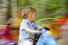 carousel мальчика стоковые фото