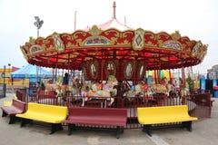 Carousel острова кролика в Luna Park на променаде острова кролика в Бруклине Стоковое Фото