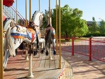 Carousel лошадей веселый идет круг Стоковые Фото