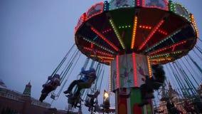 Carousel рождества на красной площади видеоматериал
