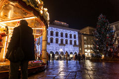 Carousel рождества в della Repubblica аркады Стоковая Фотография RF