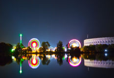 Carousel, ярмарочная площадь Nuerenberger Стоковые Фото
