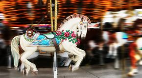 Carousel 1. Image of a horse on a carousel in motion royalty free stock image