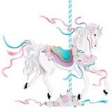 лошадь carousel иллюстрация штока