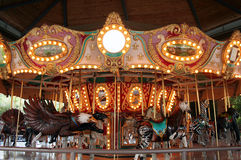 Carousel. The lights of a carousel light up as it turns Royalty Free Stock Photography