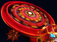 Carousel. Rotating carousel in the nigh Royalty Free Stock Photo
