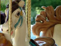 Carousel. Close up of horse on carnival carousel Royalty Free Stock Photos