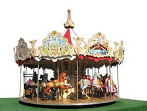 Carousel. On a white background Stock Images