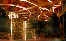 Carousel. Merry-go-round,  during Christmas celebrations Stock Image