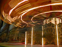 Carousel. Merry-go-round,  during Christmas celebrations Stock Photography