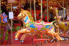 Carousel. Close-up of a merry-go-round horse Royalty Free Stock Photography