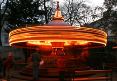Carousel. In the entertainment park royalty free stock photography