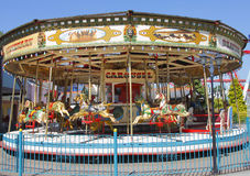 Carousel. At fairground theme park Stock Image