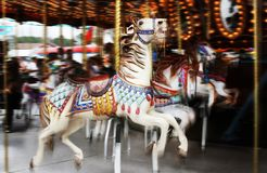 Carousel 2. Image of horses on a carousel in motion royalty free stock images