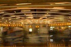 Carousel. A long exposure shot of the famous Looff Carousel in Spokane, Washington Royalty Free Stock Photos