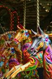 Carousel. Vintage carousel horses brightly painted Royalty Free Stock Images