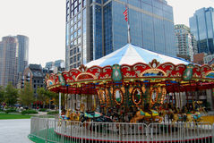 Carousel. Colorful carousel in Boston's downtown, Massachusetts Royalty Free Stock Images