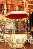 Carousel. Seat and picture background Royalty Free Stock Images