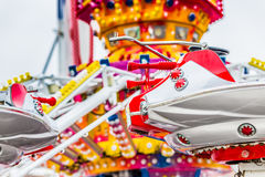 Carousel with airplanes Royalty Free Stock Images