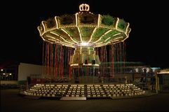 Carousel at amusement park Royalty Free Stock Photo