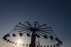 Carousel in amusement park Stock Photography