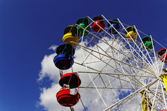 Carousel in an amusement park. In Europe Stock Images