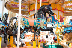 Carousel in amusement park Royalty Free Stock Image