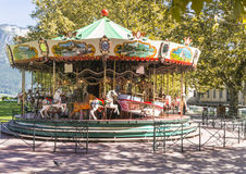 Carousel. In Annecy . France Royalty Free Stock Photography