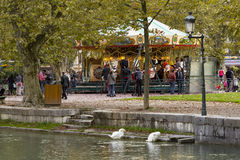 Carousel in Annecy, France Stock Photography
