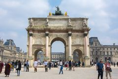 Carousel Arch of Triumph, Paris, France Royalty Free Stock Photo