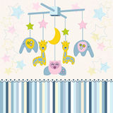 Carousel baby for crib vector Stock Photography