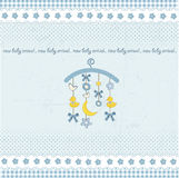 Carousel baby invitation. With duck, star and moon Royalty Free Stock Photography