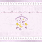 Carousel baby invitation Royalty Free Stock Image