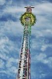 Carousel on the bavarian folk festival Oktoberfest Royalty Free Stock Photo