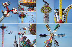 Carousel on the bavarian folk festival Oktoberfest Royalty Free Stock Photography