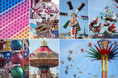 Carousel on the bavarian folk festival Oktoberfest Royalty Free Stock Image
