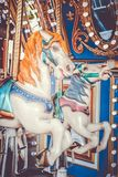 Carousel at the beach royalty free stock photo