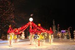 Carousel bożenarodzeniowy pokaz zdjęcie royalty free