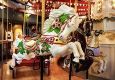 carousel bożych narodzeń koński ornamentu drzewo Zdjęcie Stock